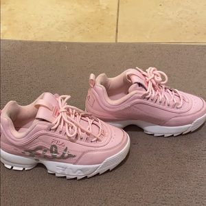 FILA Pink Sneakers -kids size 4. Women's size 5.5